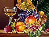 Vfvozr Pintura Digital para Adultos Kit de Fruta Pintura al óleo para Adultos y Niños DIY Bricolaje para niños con Pinceles y Pintura para 40x50cm Sin Marco