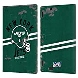 Head Case Designs Licenciado Oficialmente NFL Casco Distressed Look 100th New York Jets Logo Art Car...