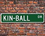 Kin-Ball, Letrero de Kin-Ball, Ventilador Kin-Ball, participante de Kin-Ball, Regalo de Kin-Ball, Equipo Canadiense, señal de Calle, señal de Metal de Calidad