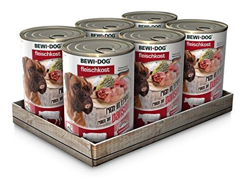 24 x 400g (6x Rinderpansen, 6 x Huhn, 6 x Lamm, 6 x Kalb) Mischpackung Bewi Dog Fleischkost