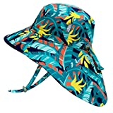 Jan & Jul Toddler Sun Hat for Girls Boys, Water Repellent, 50+ UPF, Quick Dry (S: 0-6 Months, Tropical)