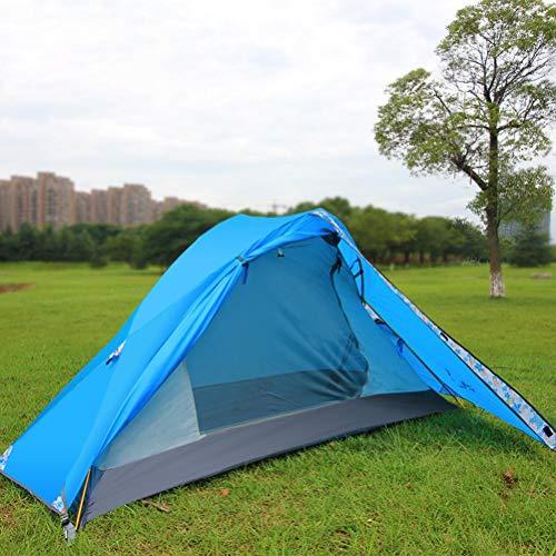 Fantexi Tienda de campaña – Tienda de campaña para una sola persona, resistente al agua, ultraligera de doble capa, tienda al aire libre para camping, mochileros, senderismo al aire libre