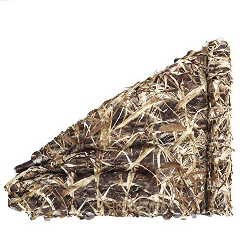 Auscamotek Camo Netting Camouflage Net for Duck Blind Material Soft Quiet -Dry Grass 5×20 Ft