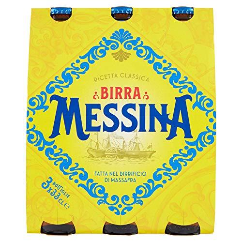 Birra Messina Ricetta Classica, Pacco da 3 x 330ml