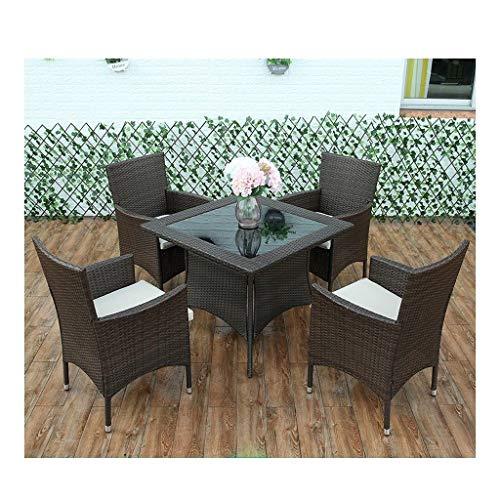 Muebles de vida al aire libre Patio Muebles de jardín Mesa y sillas de ratán Muebles de jardín Conjuntos de esquina sofá de la mesa de centro del patio conversación al aire libre (de 4 piezas Conjunto