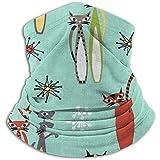 Olive Helin(a) Atomic Tabby 'Atomic Tabby Seafoam UV Protección Solar Gaiter Máscara Solar, Careta para Pesca, Senderismo, Kayak máscara,
