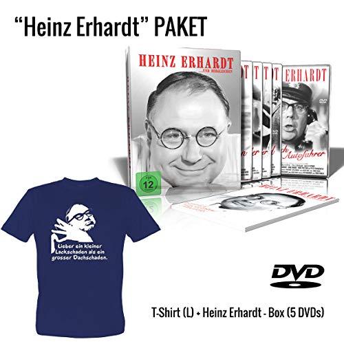 Heinz Erhardt ...und Dergleichen (5 DVD Metallbox, Limited Edition) + Heinz Erhardt T-Shirt (Dunkelblau, Grösse L) Geschenkset