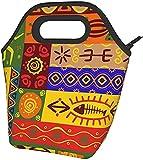 African National Modelli Stampati Isolato Scatola Di Pranzo Ampio Pranzo Tote Pranzo Tote Bag - Leggero, Isolato E Riutilizzabili
