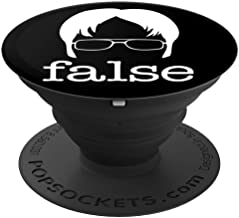 False - Funny Office Clever Quote And Humor Gift - PopSockets Grip and Stand for Phones and Tablets