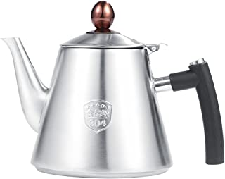 Teapot with 1.2L Capacity Stainless Steel Stove-top Teapot Tea Coffee Pot Kettle Heat Resistant Fast Boiling Silicone Handle(Matte)