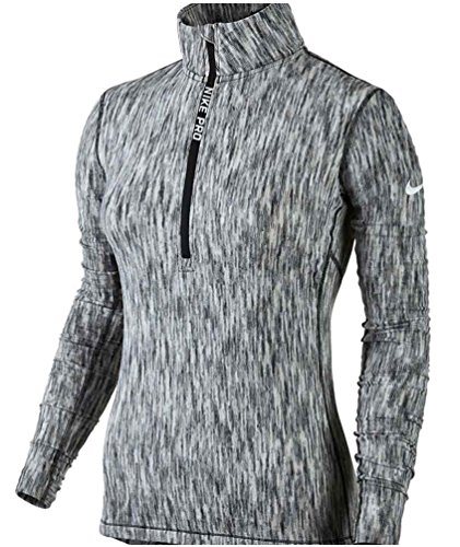 Nike Damen Pro Hyperwarm Trainingsshirt, Weiß, Medium