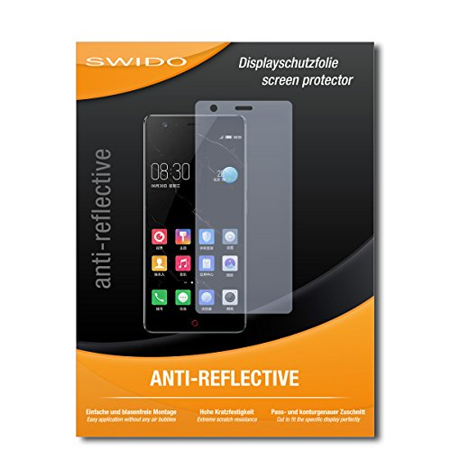 SWIDO Protector de Pantalla para ZTE Nubia Z17 Lite [Anti-Reflex], Antirreflectante, Mate, Anti-Arañazos, Anti-Huella Dactilar - Película Protectora