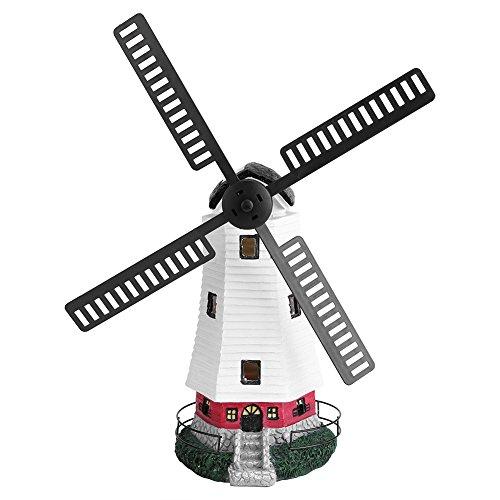 Cocoarm LED Solar Windmühle Licht Windrad Lampe Gartenwindmühle Beleuchtung Drehbaren Flügeln Aufladbar Außen Tischleuchte Garten Dekoration