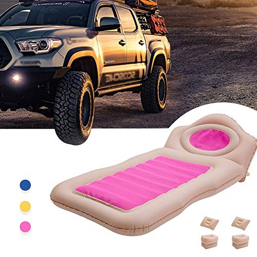 HYM Auto Aufblasbares Bett Tragbare Camping Luftmatratze (Tragbar) Reisen, Camping, Urlaub, Rücksitz Isomatte Geeignet für BMW 1er 3er 5er,Pink
