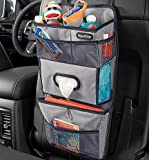 High Road TissuePockets Backseat Organizer with Tissue Compartment and Cup Holder Bin (Gray)