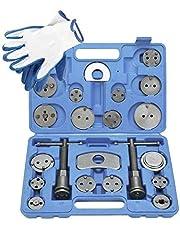 8MILELAKE ブレーキキャリパーツール 22点セット ブレーキパットや ブレーキディスクの交換用に使用 国産車輸入車対応 自動車メンテナンス工具 (青色)