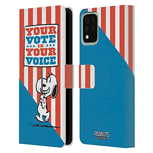 Head Case Designs Licenza Ufficiale Peanuts Il Cartello di Snoopy Il Tuo Voto è la Tua Voce Cover in Pelle a Portagoglio Compatibile con LG K42 / K52 / K62
