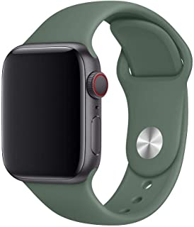 Silicon Sport Band for Apple Watch 40mm Pine Green, Works with all versions of Apple Watch