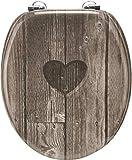 Cornat KSD811 - Asiento de inodoro (DM), diseño de corazón