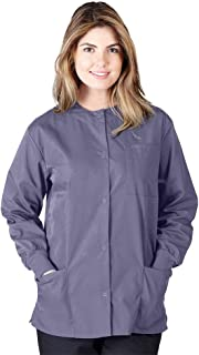 Natural Uniforms Women's Warm Up Jacket Medical Scrub Jacket (XS to 5XL) (X-Large, Charcoal)