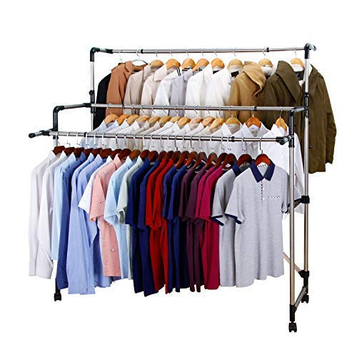 SUNPACE Laundry Drying Rack for Clothes SUN001 Rolling Collapsible Sweater Folding Clothes Dryer Rack for Outdoor and Indoor Use
