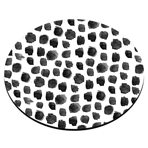 Smooffly Polka Dot Mouse Pad, Polka Dot Print, Dot Pattern, Gift for Her, Cute Round Mousepad, Cute Desk Accessories, Office Decor, Desk Decor, Mouse Pads Photo #2