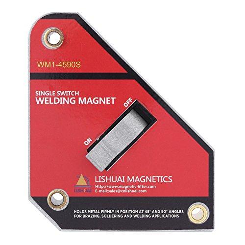 Escuadra Magnética para Soldar, Imanes para Soldadura, 45° 90° Imanes Soldadura Magneticos para la Asamblea, La Soldadura, y la Instalación de Tubos