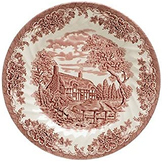 Churchill China Brook Pink 10-Inch Dinner Plates, Set of 4