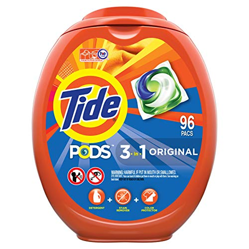 Tide PODS Laundry Detergent Soap PODS, High Efficiency (HE), Original Scent, 96 Count