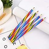 siyu 4pcs / Pack Kawaii 4 Color Concentric Rainbow Pencil Crayons Lápiz de Colores Set Art School Supplies para Pintar Graffiti Drawing, 4Pcs