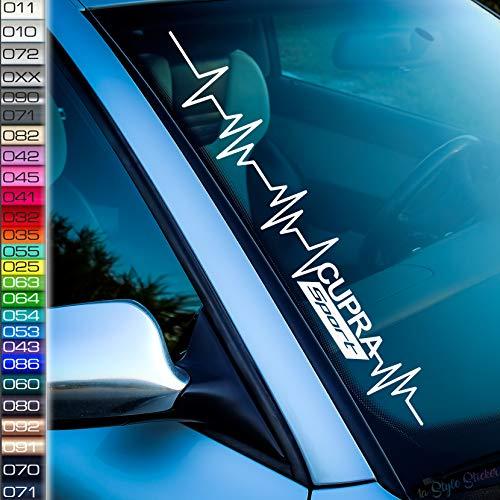 1A Style Sticker Pulssschlag Cupra Sport Frontscheibenaufkleber Leon Cupra Seat Ibiza Turbo Aufkleber