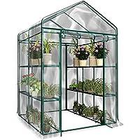 D4P Display4top Jard/ín Invernaderos 51 /× 45 /× 130 cm Cubierta Transparente de PVC Las Hierbas o Flores se Pueden Cultivar en Interiores y Exteriores Durante Todo el a/ño 3 Estantes