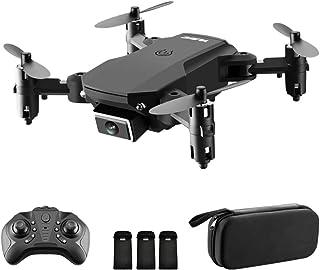 GoolRC S66 RC Drone con cámara 4K Drone Cámara Dual Posicionamiento de Flujo óptico WiFi FPV Drone Modo sin Cabeza Altitud Hold Gesto Foto Video Pista Vuelo 3D FILP RC Qudcopter (Bolso, 3 Batería)