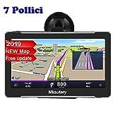 Mksutary GPS per Auto, Schermo di Navigazione, LCD Touch Capacitivo, Memoria RAM da...