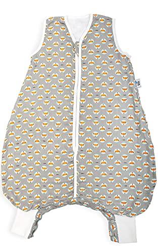 Hosenmax Sommerschlafsack mit Beinen - Bio-Bambus Musselin – entspricht TOG 1.0 - Übergangs Schlafsack mit Füßen - Flinker Fuchs Größe 80 cm