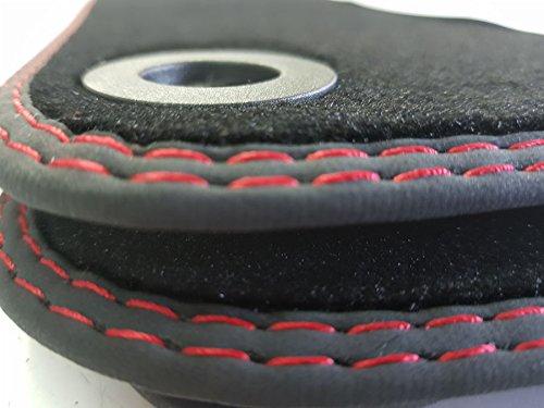 styling4yourcar Fußmatten für Golf 5 (V) VI 6 Doppelnaht rot-rot Automatten höchste Qualität Velours