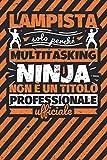 Taccuino foderato: lampista - solo perché multitasking ninja non è un titolo professionale ufficiale