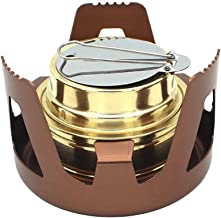 Zebery Spirit Burner Mini Ultra-Light Alcohol Camping Stove Copper Alloy Furnace for Outdoor Cookout Picnic Hiking