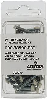 Leviton 78500-PRT 7/8-Inch Long 6-32 Thread,  Oval Head Milled Slot Replacement Wallplate Screws,  Light Almond