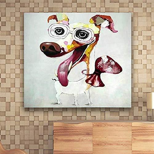 GWFVA Schilderijen Olie op doek handgeschilderd op canvas abstracte moderne abstracte kunst abstracte tekening kunst drone schilderij handgemaakte acrylverf