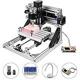 VEVOR 2418 Kit de Enrutador CNC Kit de Enrutador de Madera Control GRBL Básico Máquina de Bricolaje CNC Máquina de Fresado de PVC de 3 Ejes PCB con Controlador Fuera de Línea 240x180x40mm