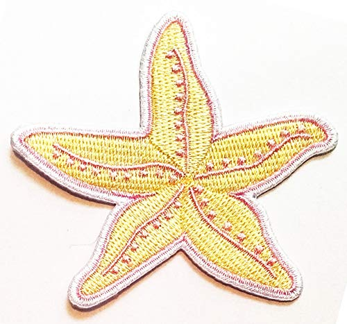 Review Nipitshop Patches Yellow Pink Starfish Sea Life Fashion Cartoon Kid Baby Girl Jacket T-Shirt ...