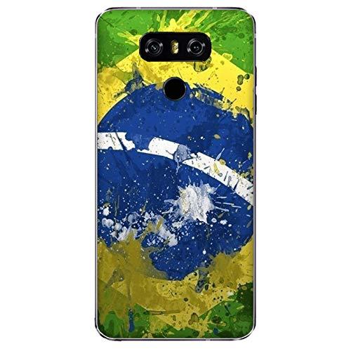 Funda G6 Carcasa Compatible con LG G6 Banderas de la Ciudad Brasil/Imprimir también en los Lados. / Teléfono Hard Snap en Antideslizante Antideslizante Anti-Rayado Resistente a los Golpes rígido