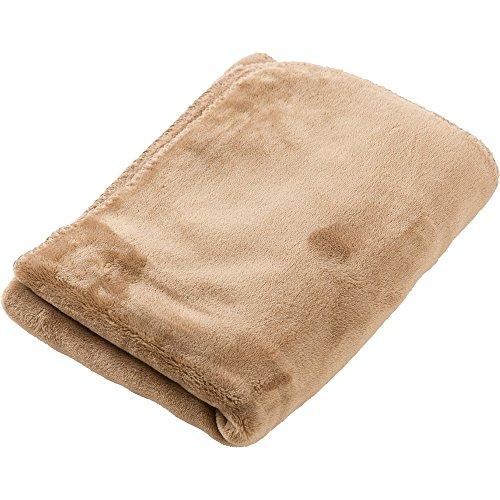 アイリスプラザ ひざ掛け 毛布 ブランケット プレミアムマイクロファイバー とろけるような肌触り fondan 静電気防止 洗える 高密度 品質保証書付き ハーフ 100×70cm モカベージュ