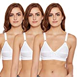 BODYCARE Women's Cotton Non-Wired Regular Bra (E5585WWW-40D_White_40)
