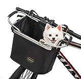 ERRLANER Bicycle Basket for Dog Cat Cycling&Outdoor Carrier Bike Handleber Front Waterproof Folding