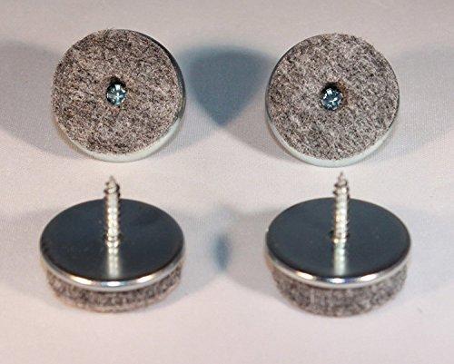 24 unidades de fieltro para muebles con tornillo – Ø 30 mm – de metal/fieltro deslizador de muebles