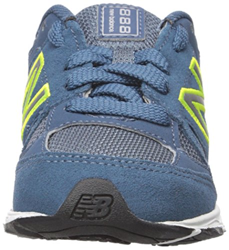 New Balance New Balance KJ888V1 Infant Running Shoe (Infant/Toddler), Blue/Yellow, 20 M EU