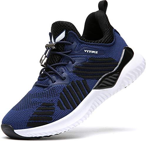 Elaphurus Kinder Sportschuhe Jungen Sneaker Mädchen Hallenschuhe Outdoor Laufschuhe Turnschuhe für Unisex-Kinder, 38 EU, 4 Blau