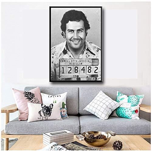 sjkkad Pablo Escobar Character Legend Poster und Drucke Poster Dekorative Leinwand Malerei Wandkunst Bild für Living Home Decor -50x70 cm Kein Rahmen